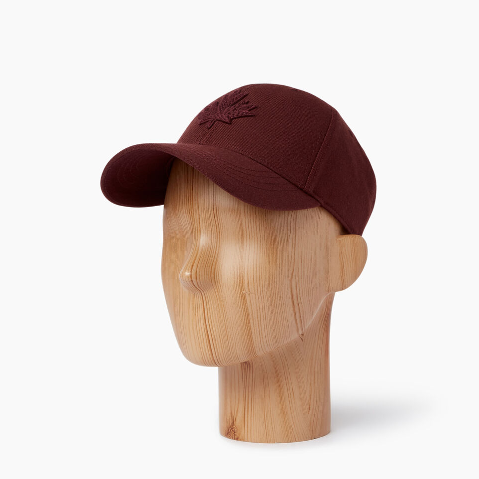 Roots-Men Our Favourite New Arrivals-Modern Leaf Baseball Cap-Crimson-B