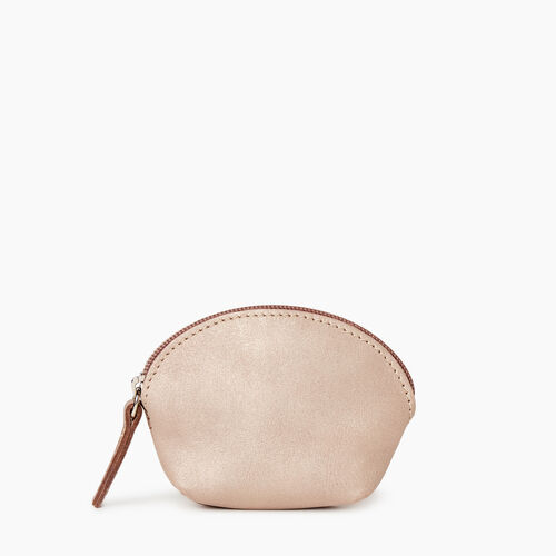Roots-Leather Our Favourite New Arrivals-Small Euro Pouch-Champagne-A