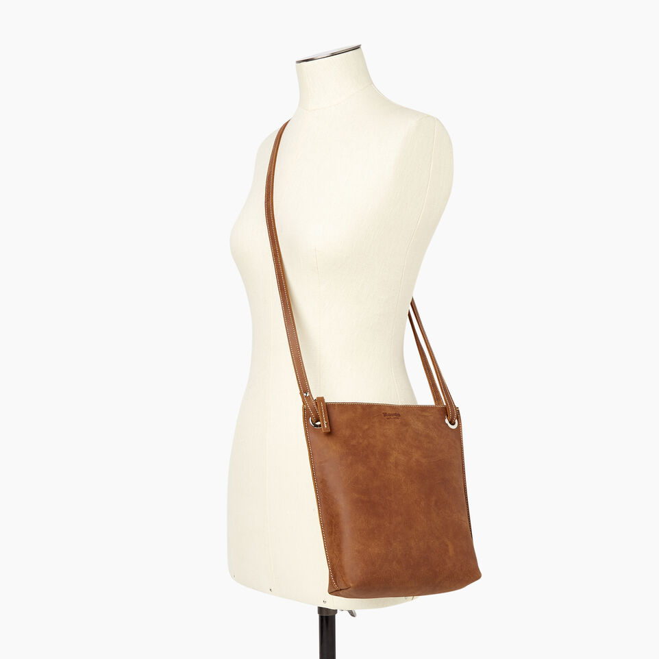 Roots-Women Leather-Festival Bag-Natural-B