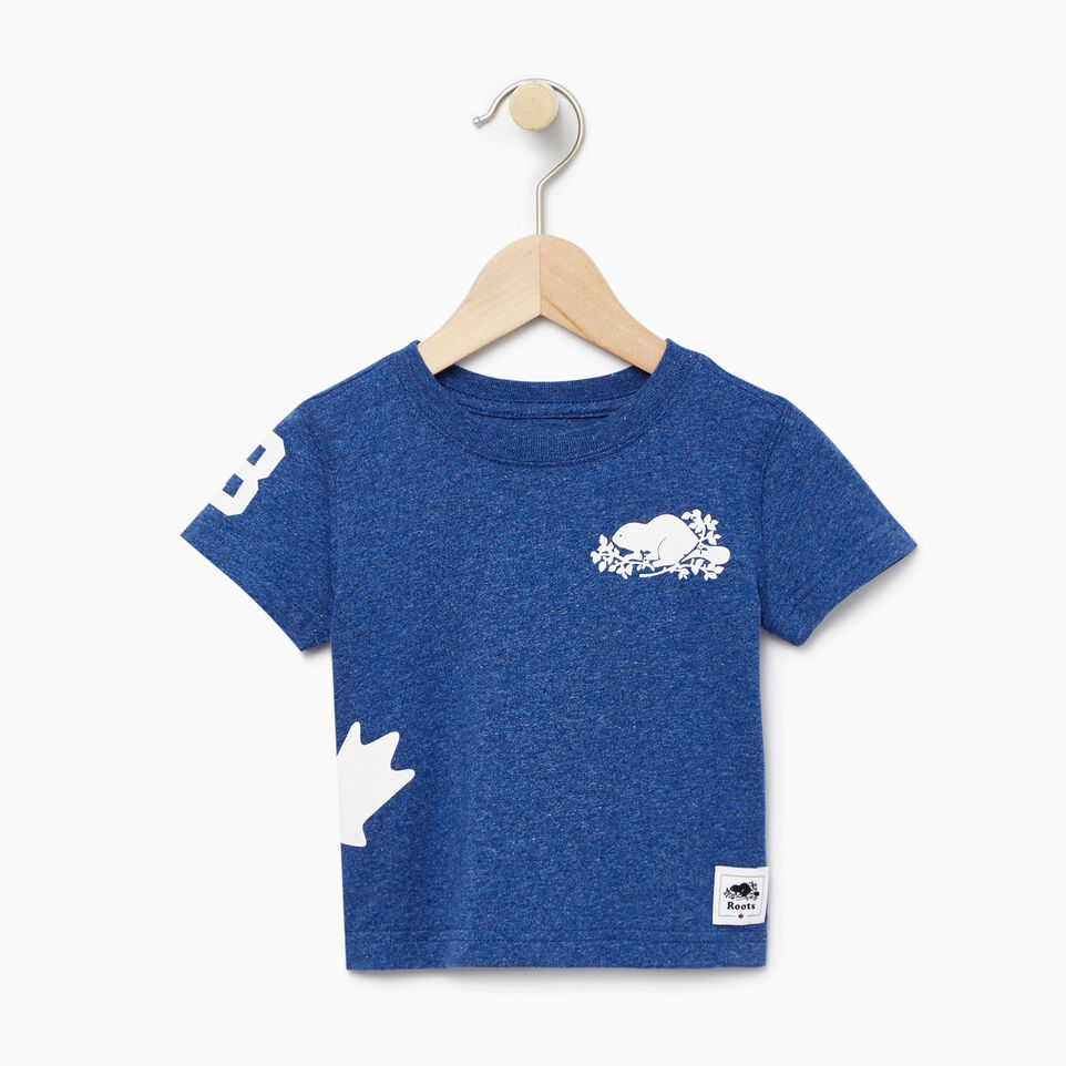 Roots-Kids New Arrivals-Baby Bedford T-shirt-Active Blue Mix-A
