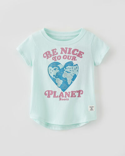Roots-Kids Tops-Toddler Be Nice T-shirt-Bleached Aqua-A