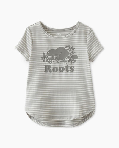 Roots-Kids Tops-Toddler Lola Active T-shirt-Vapour Grey-A