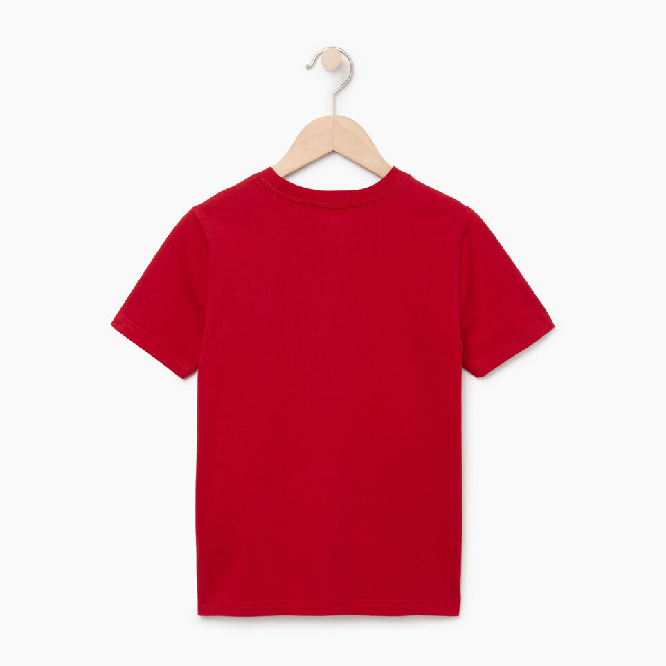 Roots-Sale Kids-Boys Canadian Boy T-shirt-Sage Red-B