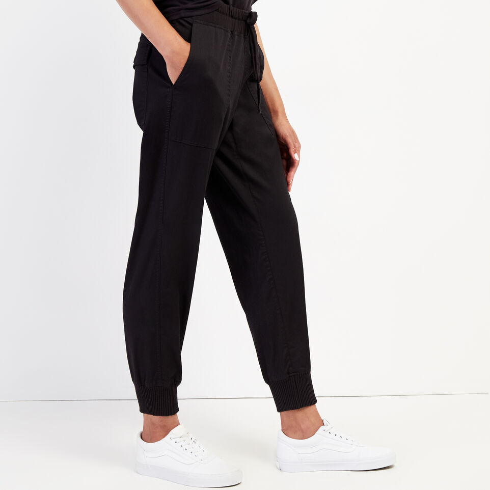Roots-New For September Journey Collection-Journey Jogger-Black-C