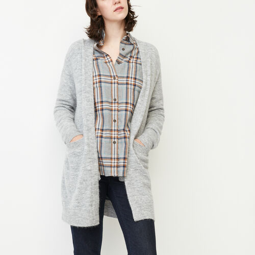 Roots-Sale Women-Joliette Coatigan-Grey Mix-A