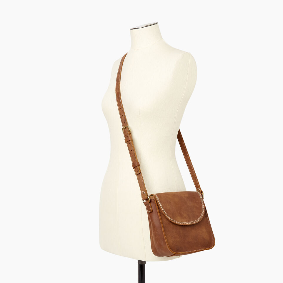 Roots-Leather Handbags-Canmore Crossbody Tribe-Natural-B