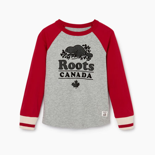 Roots-Kids Our Favourite New Arrivals-Boys Cabin Baseball T-shirt-Cabin Red-A