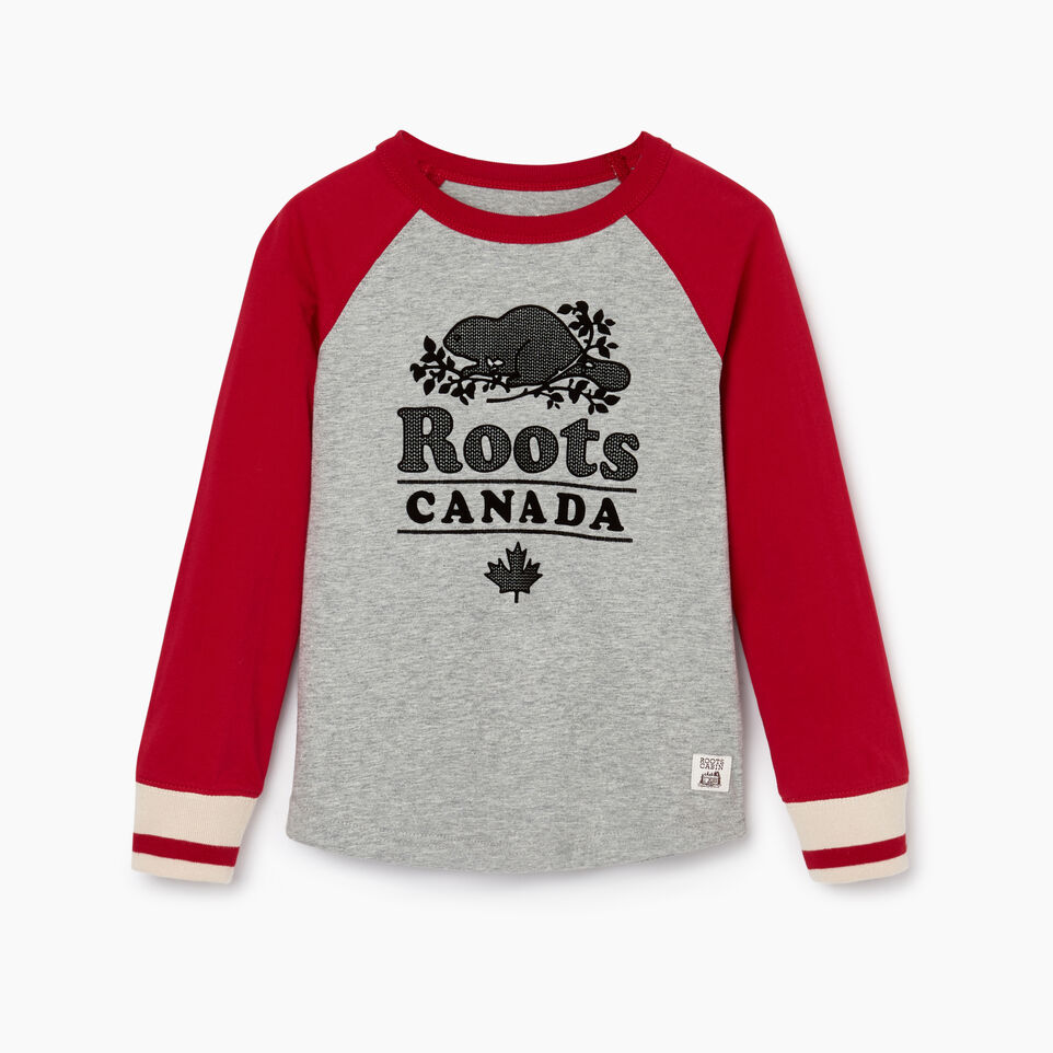 Roots-undefined-Boys Cabin Baseball T-shirt-undefined-A