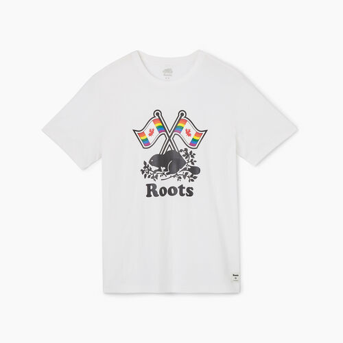 Roots-Sale Tops-Mens Roots Pride T-shirt-Crisp White-A