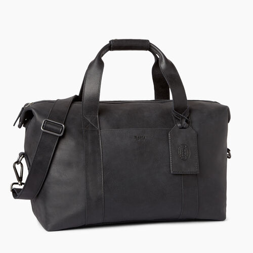 Roots-Leather  Handcrafted By Us Weekender Bags-Whistler Weekender-Jet Black-A
