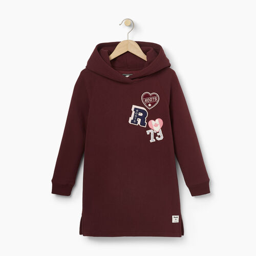 Roots-Kids Our Favourite New Arrivals-Girls Roots Patches Dress-Northern Red-A
