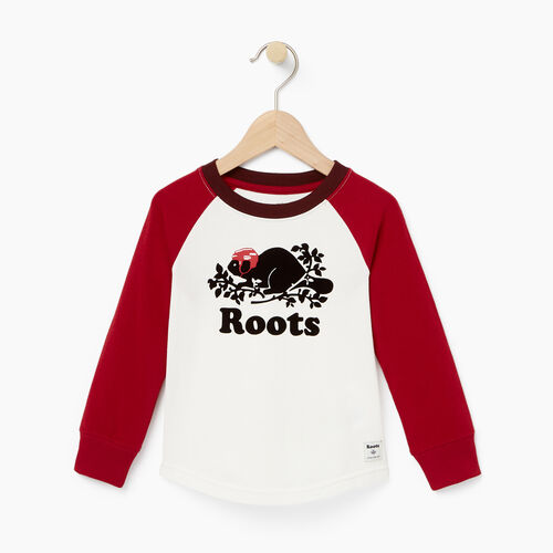 Roots-Winter Sale Toddler-Toddler Hockey Buddy Raglan T-shirt-Cloudy White-A