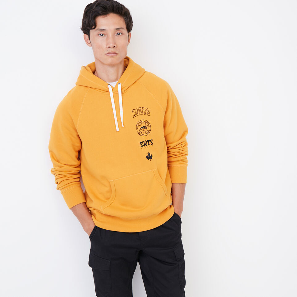 Roots-Men Our Favourite New Arrivals-Stamps Kanga Hoody-Squash Yellow-A