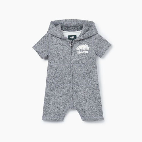 Roots-Kids New Arrivals-Baby Cooper Beaver Kanga Romper-Salt & Pepper-A