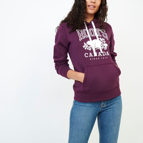 Roots-Women Categories-Classic Kanga Hoody-Pickled Beet Mix-A