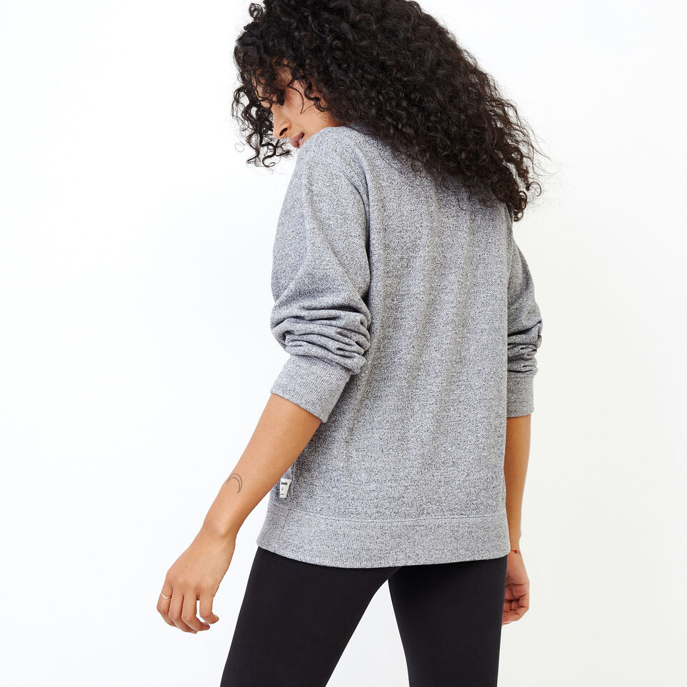 Roots-Women Our Favourite New Arrivals-Original Boyfriend Crew Sweatshirt-Salt & Pepper-D