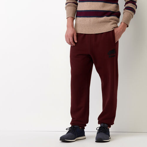 Roots-Men Sweats-Original Sweatpant-Crimson-A