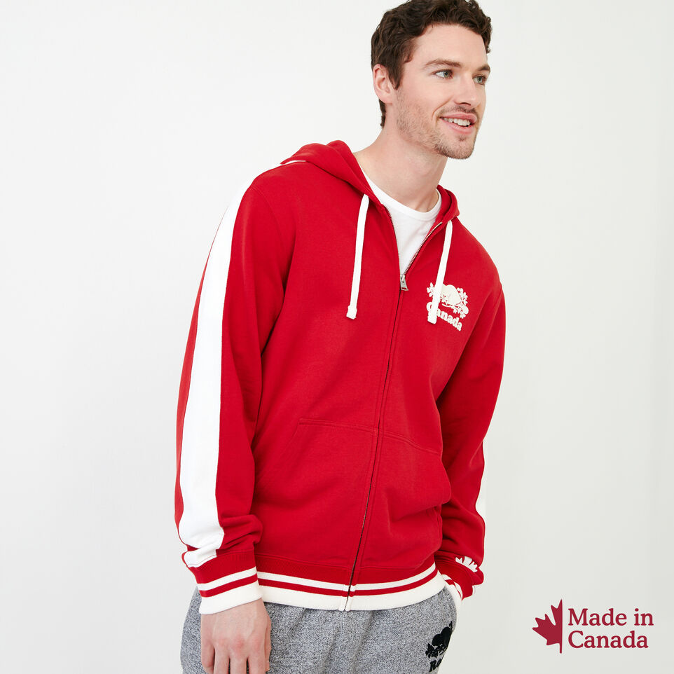 Roots-Men Our Favourite New Arrivals-Canada Zip Hoody-Sage Red-A