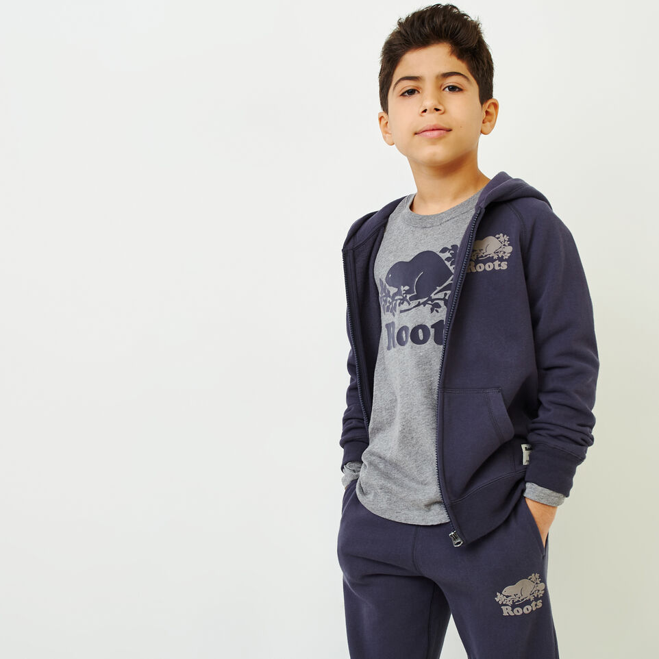 Roots-Kids Our Favourite New Arrivals-Boys Original Full Zip Hoody-Graphite-A