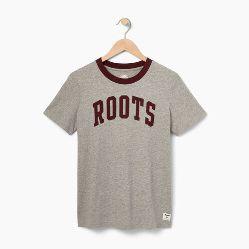 Roots-Black Friday Deals Tops-Womens Ferryland T-shirt-Grey Mix-A