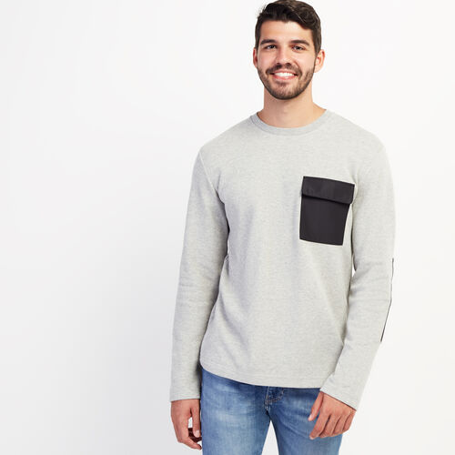 Roots-New For November Journey Collection-Journey Pocket Long Sleeve Top-Grey Mix-A