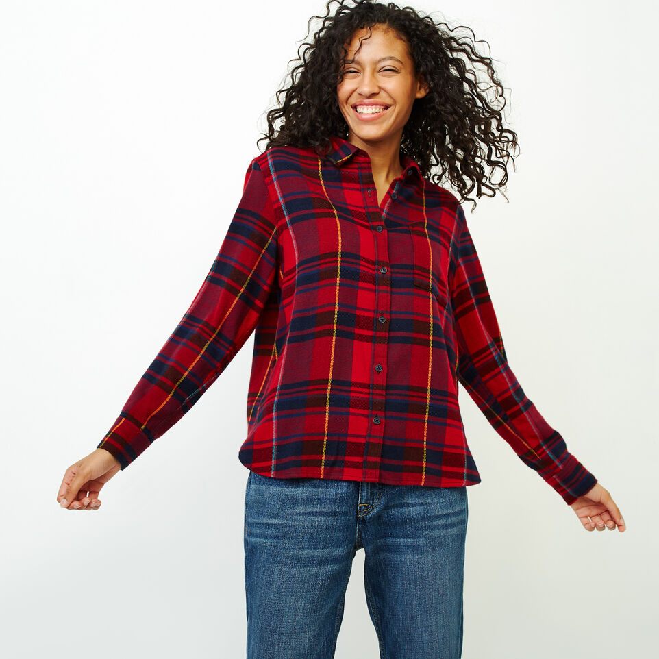 Roots-Women Our Favourite New Arrivals-Flannel Shirt-Cabin Red-A