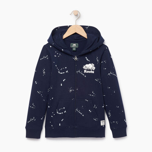 Roots-Clearance Kids-Boys Splatter Full Zip Hoody-Navy Blazer-A