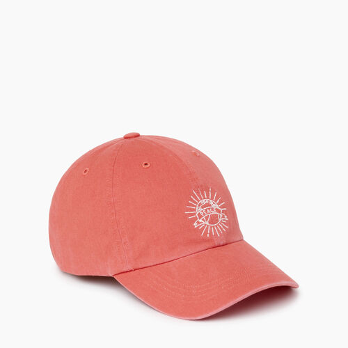 Roots-Women Hats-Camp Life Baseball Cap-Spiced Coral-A