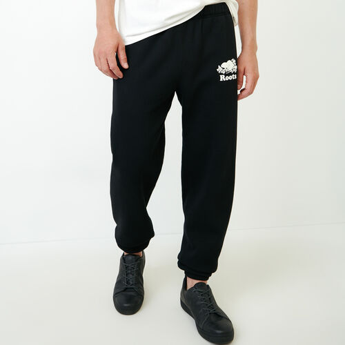 Roots-Men Sweats-Original Sweatpant-Black-A