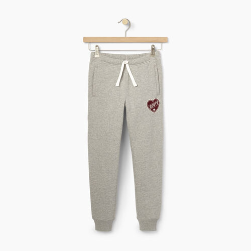 Roots-Kids Our Favourite New Arrivals-Girls Roots Patches Sweatpant-Grey Mix-A