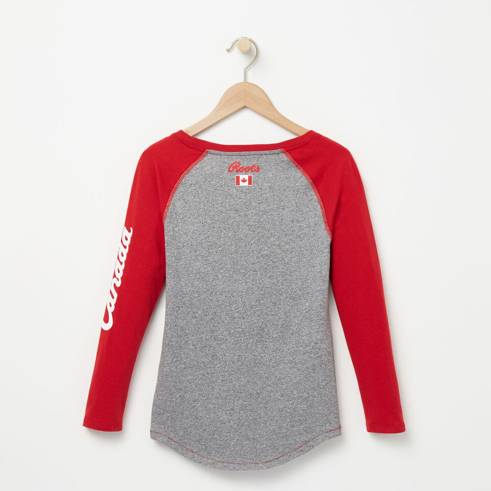 Roots-undefined-Girls Heritage Canada Long Sleeve T-shirt-undefined-B