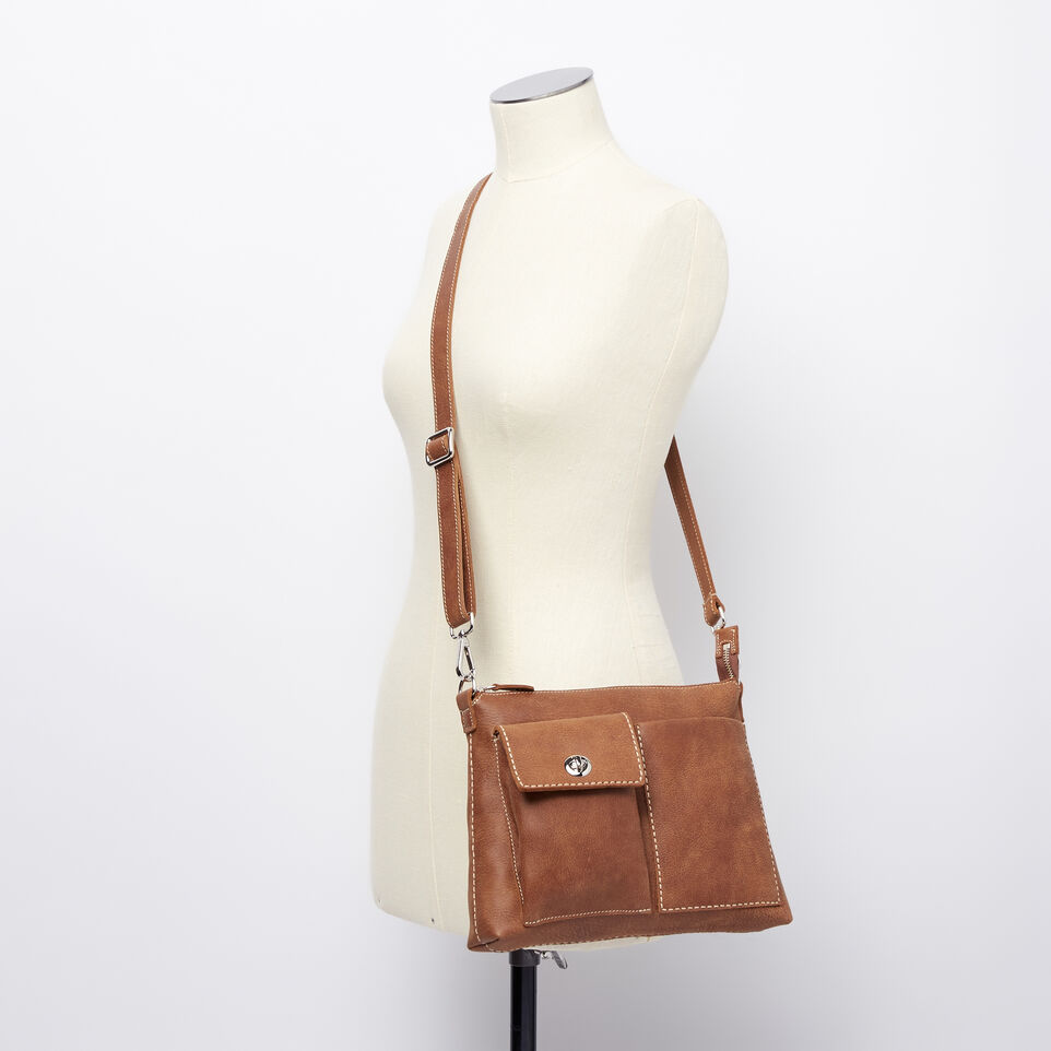 Roots-Leather Handbags-The Villager Tribe-Natural-B