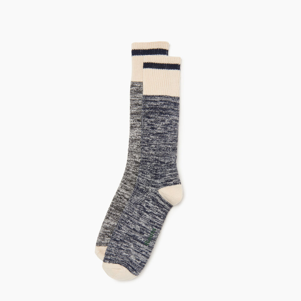 Roots-Men Clothing-Cotton Cabin Sock 2 pack-Navy-A