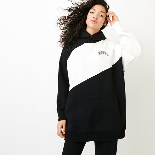 Roots-New For March Sweats-The Boyfriend Kanga Hoody-Black-A