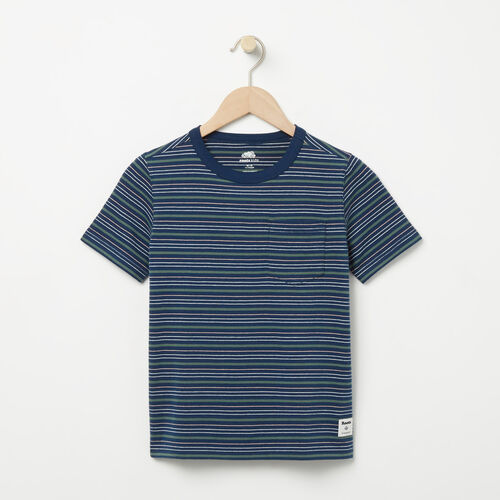 Roots-New For April Kids-Boys Striped Ringer Top-Dark Indigo-A