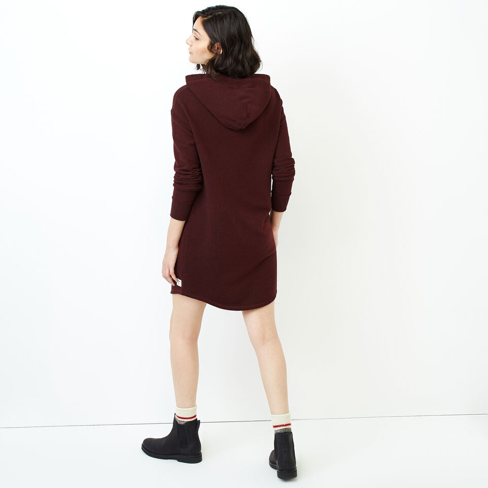 Roots-Women Categories-Cozy Fleece Kanga Dress-Crimson Pepper-D