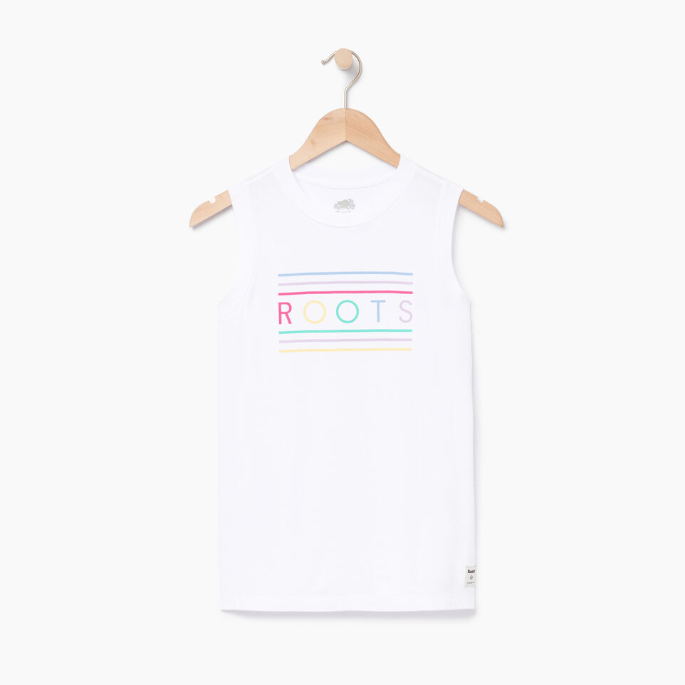 Roots-Women Clothing-Rainbow Tank-Crisp White-A