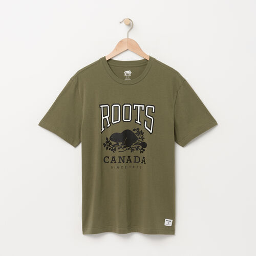 Roots-Winter Sale Tops-Mens RBC T-shirt-Dusty Olive-A
