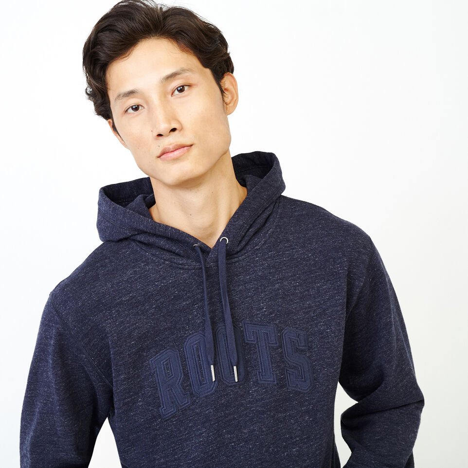 Roots-Men New Arrivals-40s Hoody-Navy Blazer Mix-E
