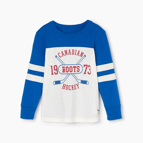 Roots-Sale Kids-Toddler Hockey Team T-shirt-Prince Blue-A
