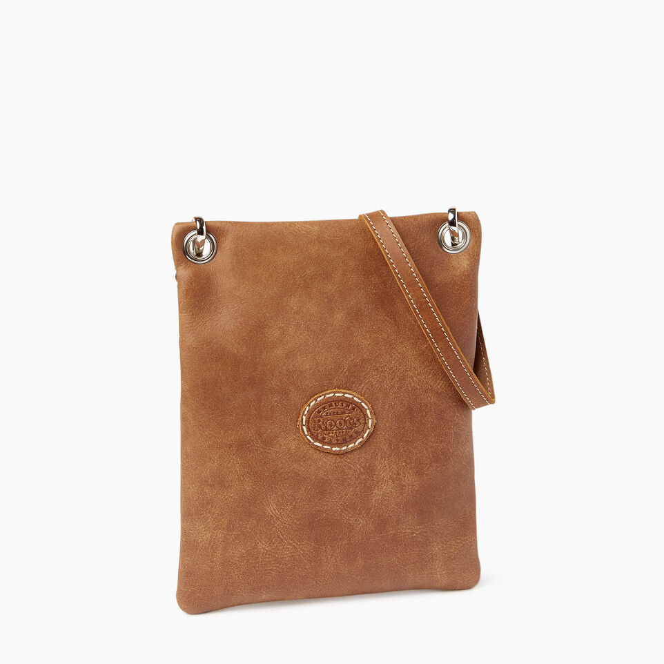 Roots-Leather  Handcrafted By Us Categories-Trans Canada Urban Pouch-Natural-C