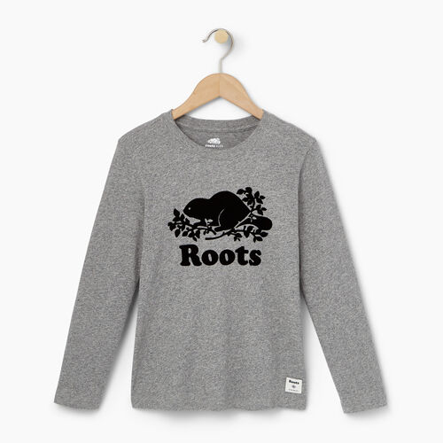 Roots-Kids Our Favourite New Arrivals-Boys Original Cooper Beaver T-shirt-Salt & Pepper-A
