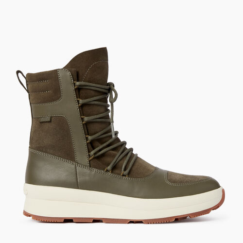 Roots-Women Footwear-Womens St Laurent Boot-Dusty Olive-A