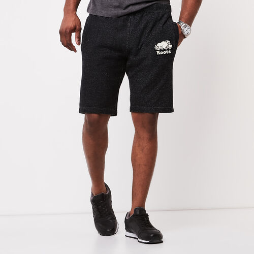Roots-Men Shorts-Original Terry Short-Black Pepper-A