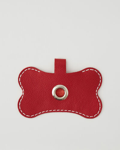 Roots-Leather Dog Accessories-Dog Waste Bag Holder-Lipstick Red-A