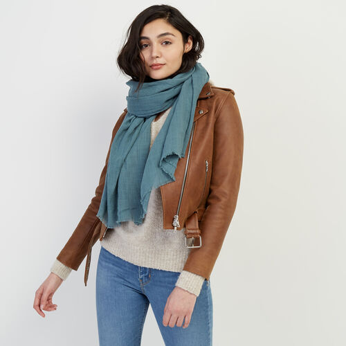 Roots-Women Categories-Nantais Scarf-North Atlantic-A