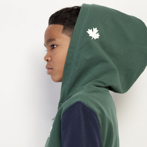 Roots-Kids New Arrivals-Boys Original Full Zip Hoody-Hunter Green-A