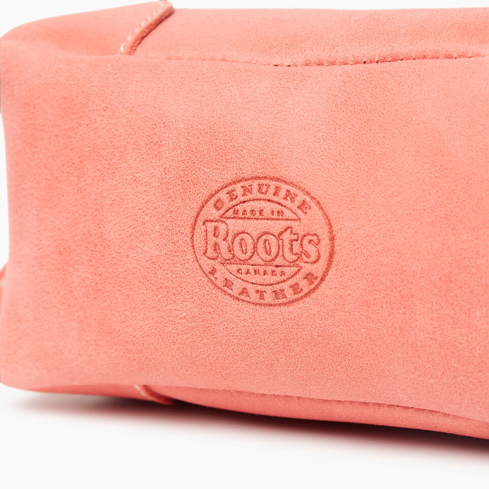 Roots-Leather Categories-Small Banff Pouch Tribe-Coral-D