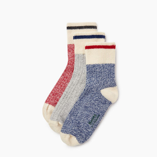 Roots-Kids Our Favourite New Arrivals-Kids Cotton Cabin Ankle Sock 3 Pack-Navy-A