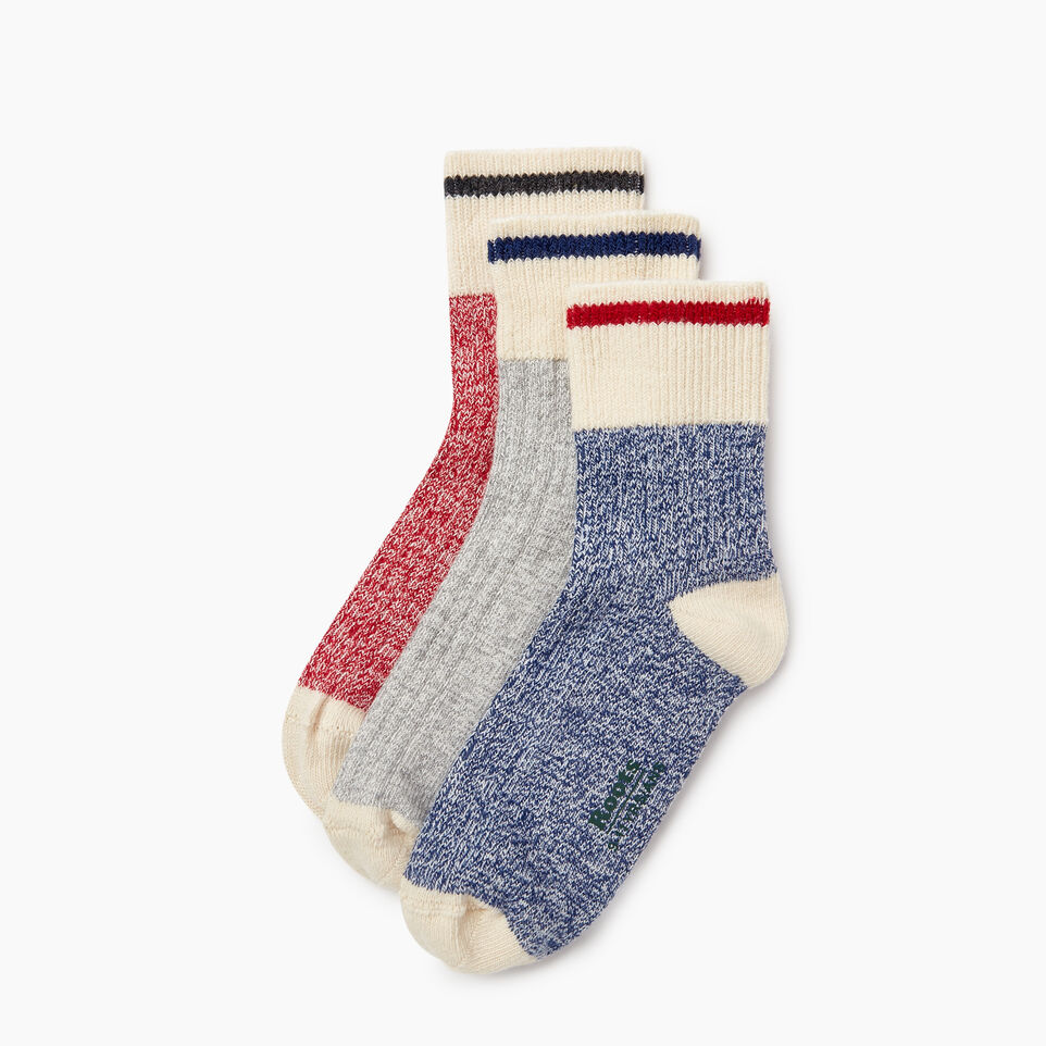 Roots-Kids New Arrivals-Kids Cotton Cabin Ankle Sock 3 Pack-Navy-A